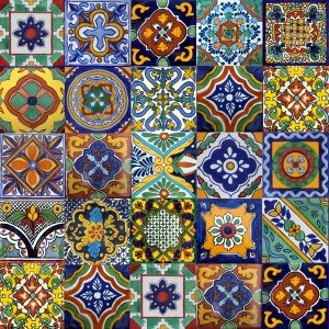 "80 Mexican 4""x 4"" Ceramic Tile MIX"