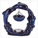 Jumping Blue Dolphins Oil Warmer