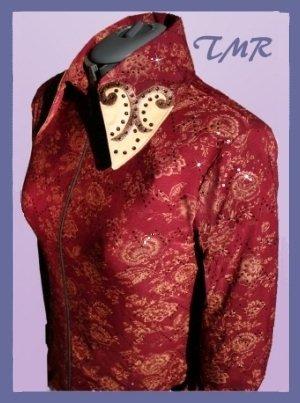 TMR Burgundy/Gold Pleasure Horsemanship Shirt Jacket