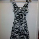Black and white print sundress