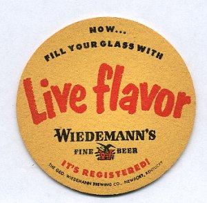 Vintage Wiedemann's Beer Coaster Newport KY