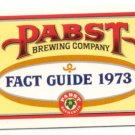 Pabst Blue Ribbon Beer Fact Guide Booklet PBR 1973