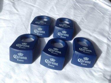 5 Corona Extra Beer Margarita Glass Clips Coronita Bottle (Blue) New!!