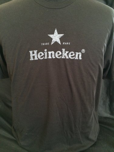 Heineken Beer Black T-shirt Size Large XL