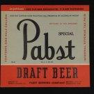 Pabst Blue Ribbon Beer Label IRTP PBR vintage 1940's