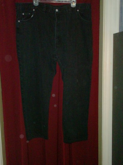 Faded Glory Black Jeans, size 46 x 30, Very Good Cond