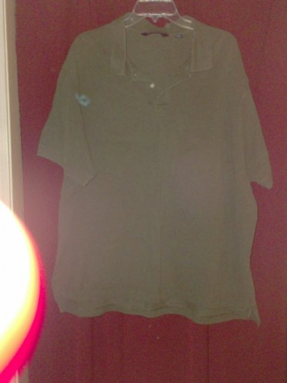 Roundtree & Yorke Polo Shirt, Dark Olive Green, Size 3X