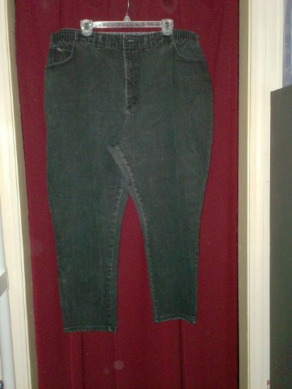 Lee Black Denim Jeans, Size 26W