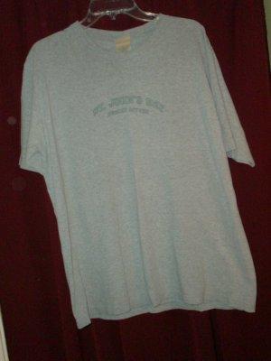 St. Johns Bay Gray T-shirt , Size Large