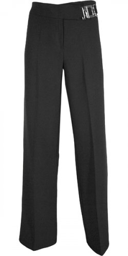 BOOTLEG EXTENDED TAB DETAIL WITH METAL BUCKLE LONG PANT