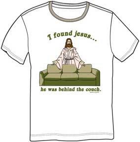 FOUND JESUS MENS FIT TEE