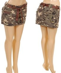 PR1-8717-Army Mini Skirt