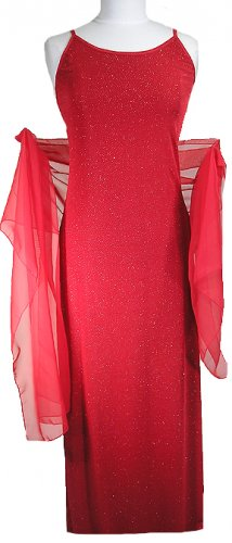 Slinky Star Evening Dress, Women�s Formal Wear  RED