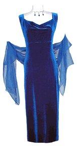 Velvet Dress, Women Party Wear Royal Blue
