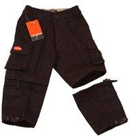 Boys Dbl. Zip Off Cargo Pants  (BLACK)