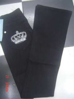 Free shipping 100% authentic Rock Republic Victoria Beckham Crystal Crown women's jeans