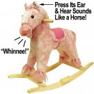Pink Plush Rocking Pony with Sound
