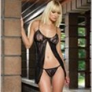 Romantic Lace Babydoll And G-String Set