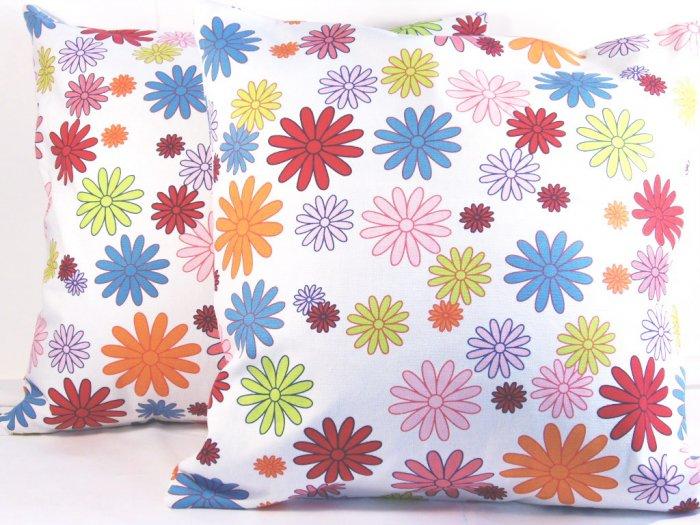 "Florals Cotton Cushion Cover 19"" Multi Color"
