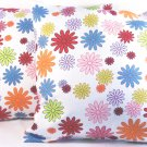 "Florals Cotton Cushion Cover 19"" Multi Color"