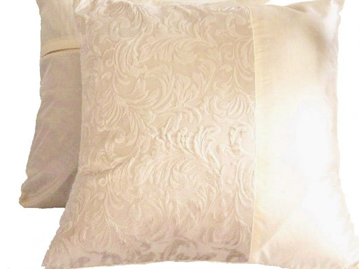 "Duo Toile Pillow Cushion Cover 20"" Cream"