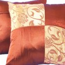 "Quad 2-tone Pillow Cushion Cover 20"" Gold/Bronze"