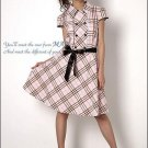 Square Stripe One Piece Dress (Free Shipping Worldwide)