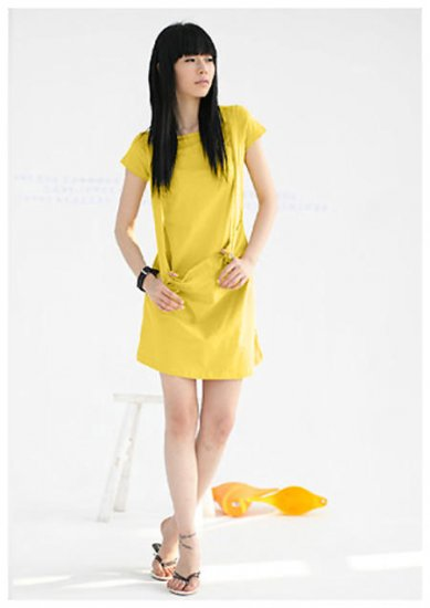 Sun Shine Yellow Big Pocket Tunic/ Dress