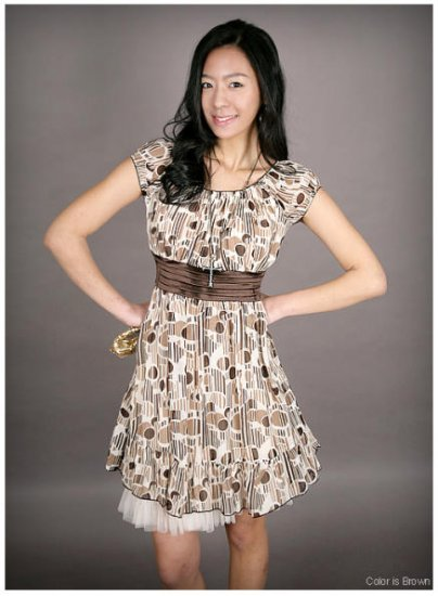 Korea Style Floral Printed One Piece Dress ( Free Shipping)