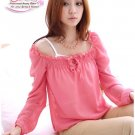 Ladies Hot Pink Chiffon Adorable Blouse