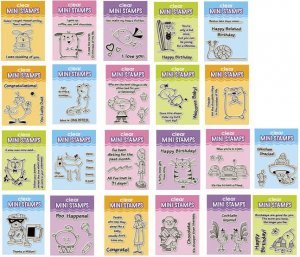 Inkadinkado Clear Mini Stamp Sets