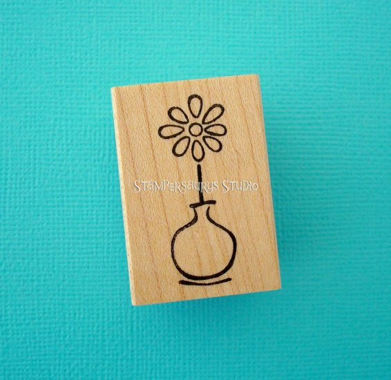 Bud Vase Rubber Stamp