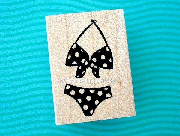 Bikini Rubber Stamp