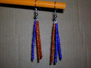 Purple/Orange triple dangle
