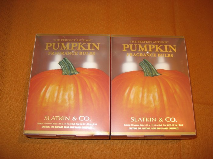 2 Bath & Body Works The Perfect Autumn Pumpkin Wallflower Refills