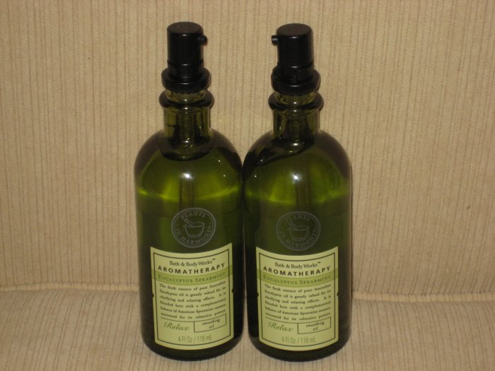 2 Bath & Body Works Eucalyptus Spearmint Smoothing Oil