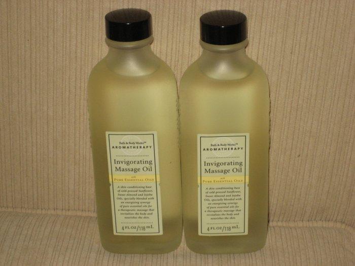 2 Bath & Body Works Aromatherapy Invigorating Massage Oil