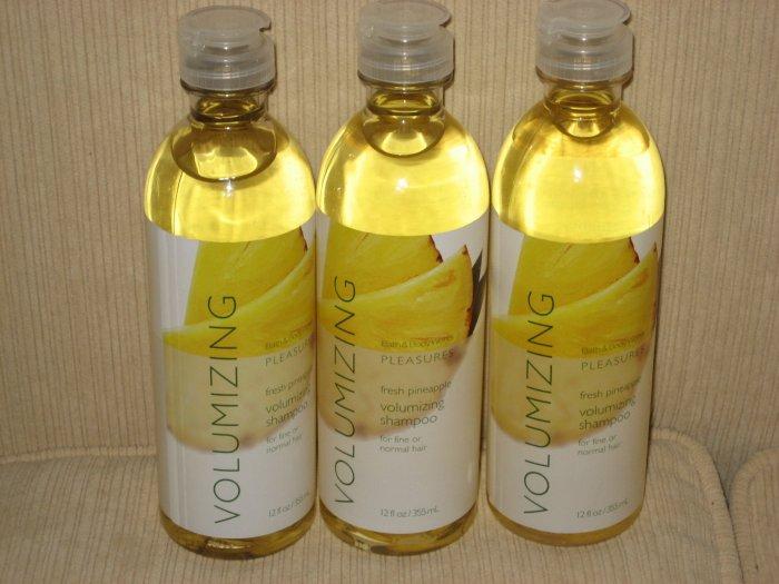 3 Bath & Body Works Fresh Pineapple Volumizing Shampoo