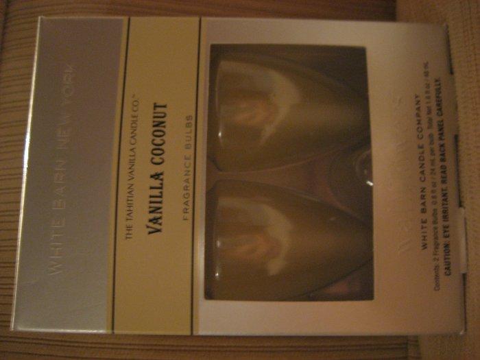 Bath & Body Works vanilla coconut wallflowers
