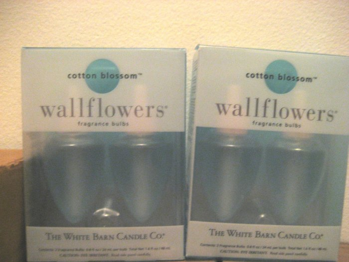 2 Bath & Body Works Cotton Blossom Wallflowers Refill
