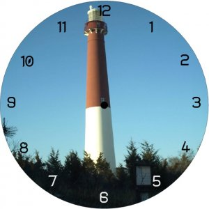 BARNEGAT LIGHTHOUSE - wall clock
