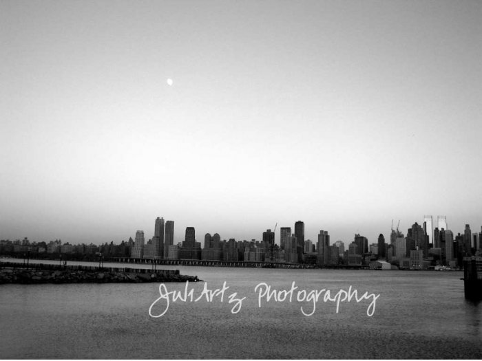 Winter Sunset in Black & White - 8 x 10 Original Photographic Print