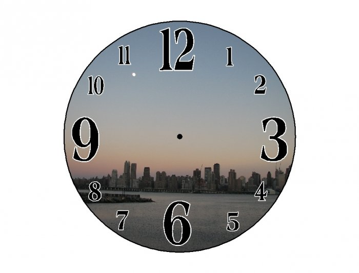 New York at Sunset Wall Clock
