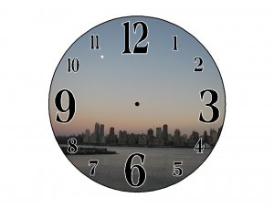 New York at Sunset Wall Clock