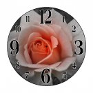 A Touch of Color Rose Wall Clock