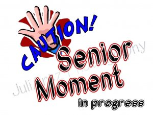 Senior Moment T-Shirt Humorous