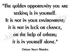Golden Opportunity T-Shirt Quotes