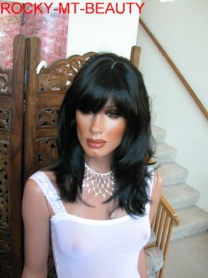 BLACK BEAUTY LAYERED SKIN TOP. HIGH FASHION WIG