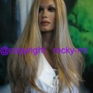 LONG SILKY SOFT HIGHLIGHT BLOND BEAUTY WIG/WIGS HAIR