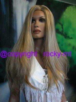 LONG SILKY SOFT HIGHLIGHT BLOND BEAUTY WIG/WIGS HAIR